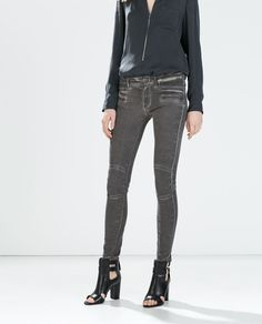 SKINNY JEANS WITH KNEE PADS-Jeans-WOMAN | ZARA United States