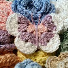 Crochet Butterfly & Flower Mobile - pattern & cotton yarn from Planet…