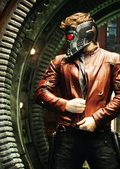 Chris Pratt as Star Lord from Guardians of the Galaxy. Marvel.