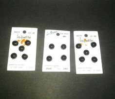 """New round black buttons, lot of 14, 7/16"""" never used #ButtonsGalore"""