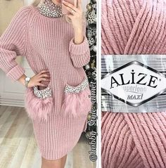 9 Tips for knitting – By Zazok Mode Outfits, Fall Outfits, Dress Outfits, Crochet Clothes, Diy Clothes, Knit Fashion, Baby Knitting, Knit Dress, Knitwear