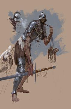 ArtStation - The Giant Mimr, Axel Sauerwald Fantasy Character Design, Character Design Inspiration, Character Concept, Character Art, Dark Fantasy, Fantasy Armor, Creature Concept Art, Creature Design, Art Anime