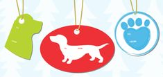 Add some poochie pizzazz to your gifts with these downloadable gift tag templates.
