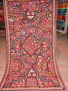 indian vintage mirror work and patchwork wall by jaisalmerhandloom, $129.00