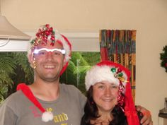 is it Christmas yet??? 2008 Sharon & Ian, Ian proudly wearing his MAN glasses these glass have the power to show men things right n front of their eyes with the powerful spotlights on the frames