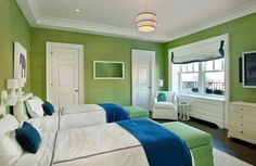 Love green and blue...maybe a beach house??