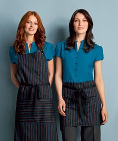 Simon Jersey striped aprons from £8.09 // Waiter apron, waitress apron, bar apron, hospitality uniform, waiting uniform, bar uniform, perfect for chefs, kitchen staff, catering, retail, cafes, coffee shops, hospitality, hotels, hotelliers etc.