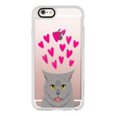 I can have cute cat phone case with grey cat funny cat meme... ($40) ❤ liked on Polyvore featuring accessories, tech accessories, iphone case, iphone cell phone cases, transparent iphone case, iphone cases, cat iphone case and apple iphone cases