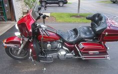 1994 Harley-Davidson FLHTC ELECTRA GLIDE Touring , red, 42,417 miles for sale in South Elgin, IL