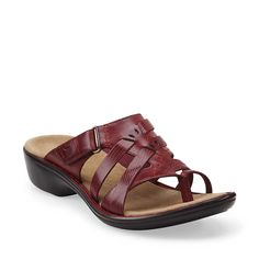 Ina Cute in Red Leather - Womens Sandals from Clarks