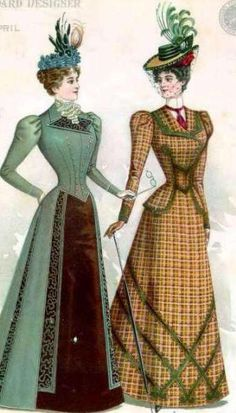 The Barrington House: 1898 fashion plateI especially like the look of the one on the left