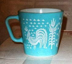 Pyrex - Butterprint in Turquoise... Coffee cups!