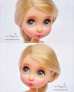 Custom face-up & repaint  Disney Animator Mini…