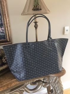 GOYARD Authentic Tote Bag Saint Louis GM Coating Canvas Leather Grey   fashion  clothing  shoes  accessories  womensbagshandbags (ebay link) d58fab10f60