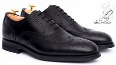 Oxford shoes with full brogue design.