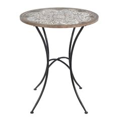 Metal & Wood Round End Table #AwesomeTaylorMadeGolfClubs