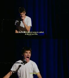 """Bo Burnham! From his new comedy special """"what."""" that's play instant on Netflix and free to watch on Youtube."""