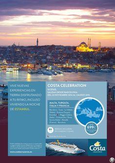 Costa Cruceros - Costa Celebration desde 699 Euros (Tasas de embarque y bebidas incluidas) ultimo minuto - http://zocotours.com/costa-cruceros-costa-celebration-desde-699-euros-tasas-de-embarque-y-bebidas-incluidas-ultimo-minuto/