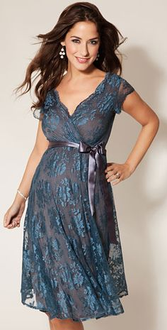 Eden Maternity Gown Short (Caspian Blue) by Tiffany Rose. It's gorgeous, with a price tag to match....but it's ALMOST the right color.