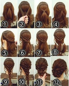 12 Amazing Updo Ideas for Women with Short Hair Best Hairstyle Ideas is part of Braided hairstyles - Check out these 12 amazing and gorgeous hair updo ideas for women with short hair Hair updo Ideas Updo for short hair easy updo Medium Hair Styles, Curly Hair Styles, Hair Medium, Hair Styles Steps, Fancy Hairstyles, Bouffant Hairstyles, Asian Hairstyles, Hairstyle Ideas, Hairstyle Short