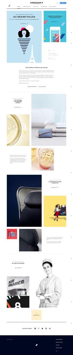 Air France au Grand palais - #responsive #storytelling - http://expo.airfrance.com/fr/#!/app
