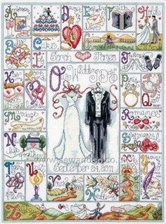 Buy Wedding ABC Cross Stitch Kit Online at www.sewandso.co.uk