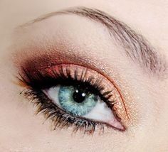 Great look for Blue  #eye makeup