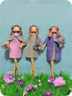 Verity Hope felt doll pattern / bendy doll / by VerityHope on Etsy Yarn Dolls, Felt Dolls, Paper Dolls, Dolls House Figures, Felt Doll Patterns, Stitch Doll, Doll Making Tutorials, All Grown Up, Pretty Hands