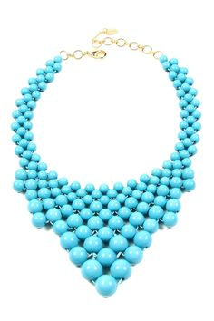 Wooster Street Necklace on HauteLook - this beaded bib necklace comes in 6 different colors and is 60% off right now!