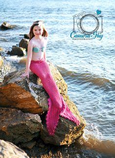 Mermaid tail and top!..LOVE. Beach Portraits, Tie Dye Skirt, Mermaid, Skirts, Fun, Tops, Fashion, Moda, La Mode
