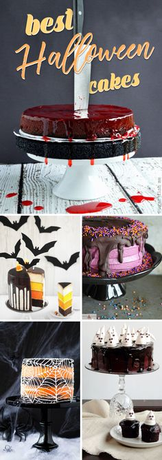 30 Decadent Halloween Cakes Worthy of Replacing Just About Any Festive Centerpiece! Halloween Kitchen, Halloween Baking, Halloween Foods, Halloween Desserts, Halloween Cakes, Halloween Treats, Halloween Party, Halloween Decorations, Scary Food