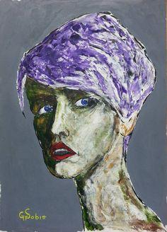 "Saatchi Art Artist George Sabin; Painting, ""portrait of a woman"" #art"