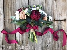Boho Bouquet Burgundy Beige Bouquet Bridal Bouquet Wedding