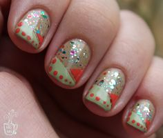 Some more peekaboo glitter: HB(8) | Mommy Does Her Nails