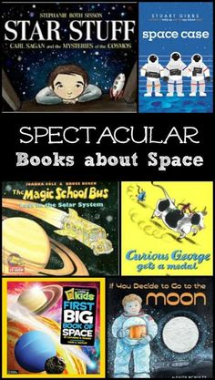 Kids book on space and the solar system. Picture books and chapter books for preschool, kindergarten and elementary students #space #astronomy