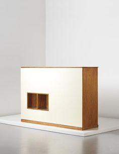 Le Corbusier and Charlotte Perriand - Rare double wardrobe and room divider, designed for la chambre d'étudiant de la Maison du Brésil, Cité Internationale Universitaire de Paris