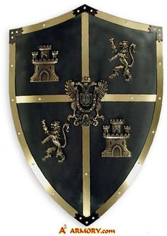 El Cid Polished Medieval Shield: This is the medieval shield of the legendary leader El Cid who captured the Moorish Kingdom of Valencia after a nine-month siege.