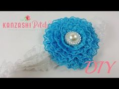 DIY. Super fast and easy lace flower baby headband. - YouTube