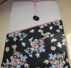 "Black floral Toshiba laptop bag, 15.4"" laptop sleeve, Lenovo case, 15"" HP laptop case, Asus laptop pouch, Acer 15 laptop sleeve, Sony laptop"