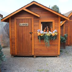 Delightful 9 Ft. W X 9 Ft. D Wood Garden Shed
