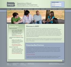 ASPP Online - This site was created for the Association of School psychologists in Pennsylvania, who are trained to help children and youth succeed academically, socially, and emotionally.  This online resource was designed to allow these professionals a platform for communication and support.  IQnection facilitated these efforts by creating a conference registration feature, a membership database management tool, and easy access to social networks, resources, and calendars…