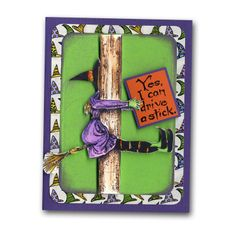 Northwoods Halloween Witch Crash Card