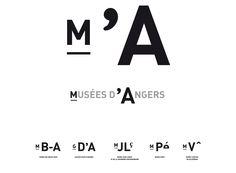 MUSÉE D'ANGERS_Graphisme par ateliers59, charte, logotype