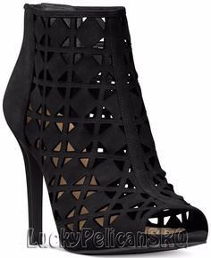 Michael Kors Michael Ivy Open-toe Booties In Black Black Ankle Booties, Suede Booties, Ankle Boots, Cutout Boots, Open Toe Boots, Michael Kors Boots, Fashion Heels, Runway Fashion, Me Too Shoes