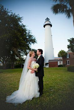 Wedding at Saint Simons Island Lighthouse, Georgia. www.GoldenIsles.com St Simons Island Georgia, Lighthouse Photos, Beautiful Wedding Venues, Georgia Wedding, Island Weddings, Wedding Locations, Wedding Bells, Picture Ideas, Backdrops