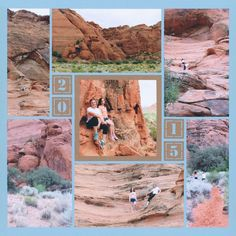 Travel scrapbook layout of St. George Utah. These Mosaic Moments layouts are so pretty! We love this scrapbook system to add lots of photos.