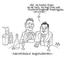 langstudeerboete - cartoon