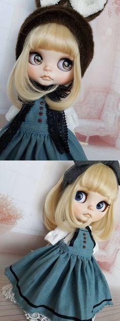 *sourire*カスタムブライス*ナチュラル・アリ... - ヤフオク! Ooak Dolls, Blythe Dolls, Pretty Dolls, Big Eyes, Doll Accessories, Landscapes, Disney Princess, Cute, Beautiful