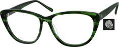 72b1ab02013 620324 Acetate Full-Rim Frame Green Glasses Frames