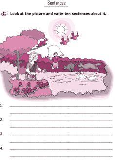 Grade 1 Grammar Lesson 18 Sentences (2) English Teaching Materials, Learning English For Kids, English Worksheets For Kids, English Writing Skills, 1st Grade Worksheets, English Language Learning, English Lessons, Teaching English, Hindi Worksheets